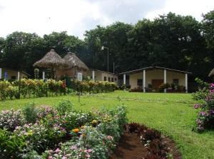 The well-kept grounds of the Skylark Centre.